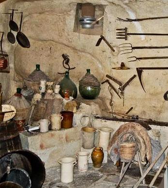 interno del bottegaccio casa grotta